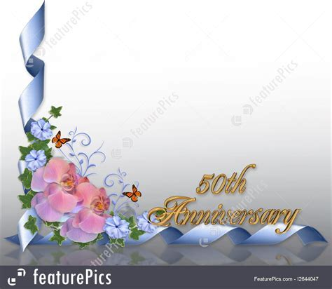 Templates: 50Th Anniversary Border Orchids   Stock
