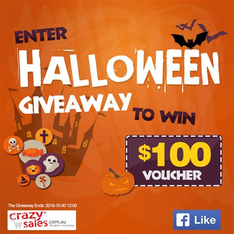 Enter The Giveaway - enter halloween giveaway to win 100 voucher crazysales