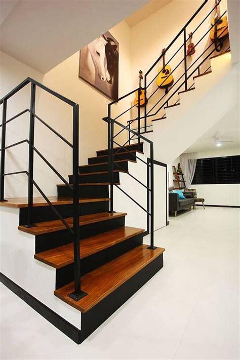 Kitchen Centre Island Designs hdb staircase singapore maisonette interior design