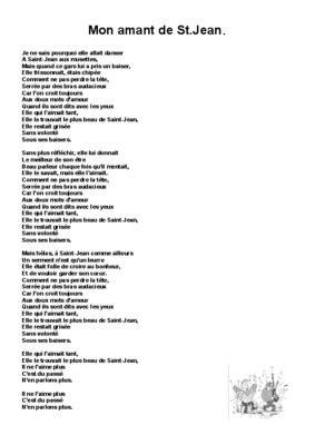 Mon Amant De Saint Jean.pdf notice & manuel d'utilisation