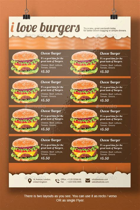 best burger flyer template by blogankids graphicriver