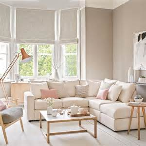 pale and pretty living room with copper floor lamp 10 beautiful living room ideas by interior designers