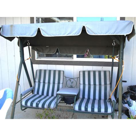 replacement canopy for 2 seater swing walmart 2 seater with arm rest swing replacement canopy