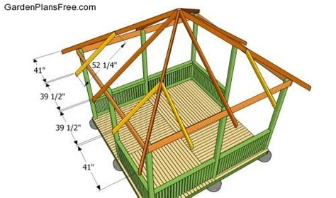 How To Build A Hip Roof Gazebo gazebo roof diy s