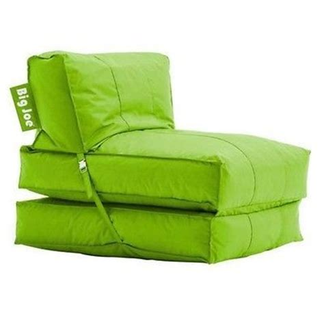 big joe flip lounger green bean bag chair room