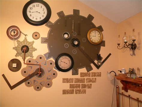 themes running clock steunk wall art fair 90 steunk wall art design