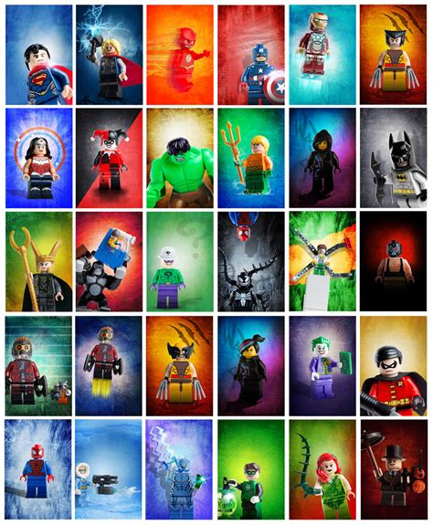 Lego Wall Sticker limited time bundle of 30 lego super heroes posters custom
