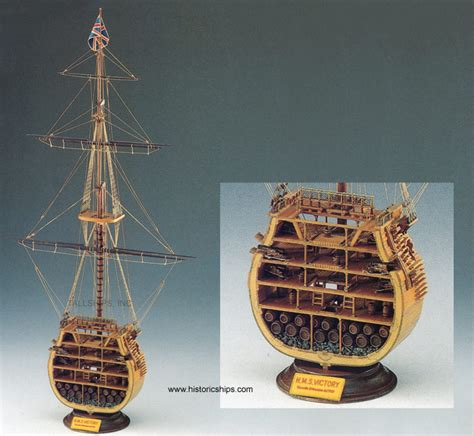 hms victory x sect sm24 historic wooden model ship kit by