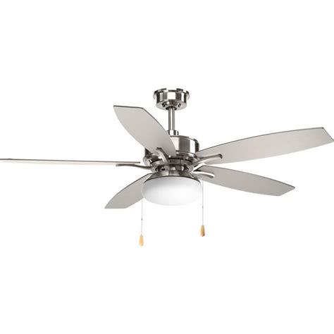 hugger 52 in brushed nickel ceiling fan progress lighting airpro hugger 52 in brushed nickel