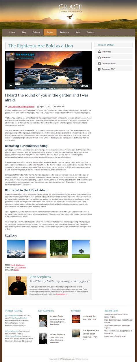 themeforest grace grace a responsive church wordpress theme by