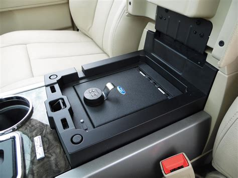 ford duty interior accessories vehicle safe by console vault the official site for ford