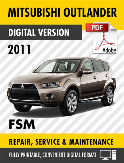 free car repair manuals 2011 mitsubishi outlander sport interior lighting 2011 2012 mitsubishi outlander sport rvr factory repair service manual mscd 017b ebay