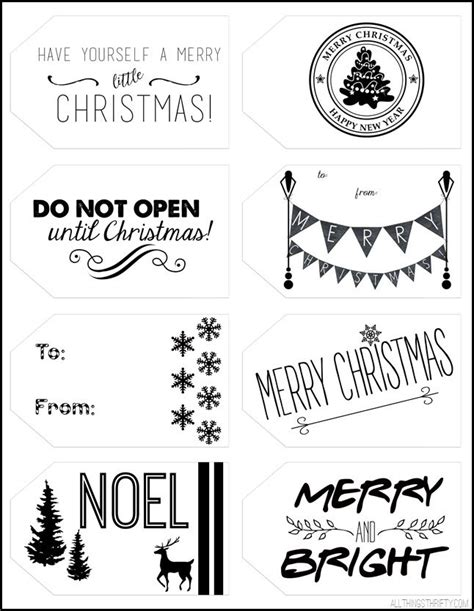 printable christmas tags black and white printable christmas gift tags