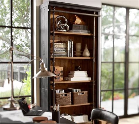 pottery barn bookcase gavin reclaimed wood bookcase pottery barn
