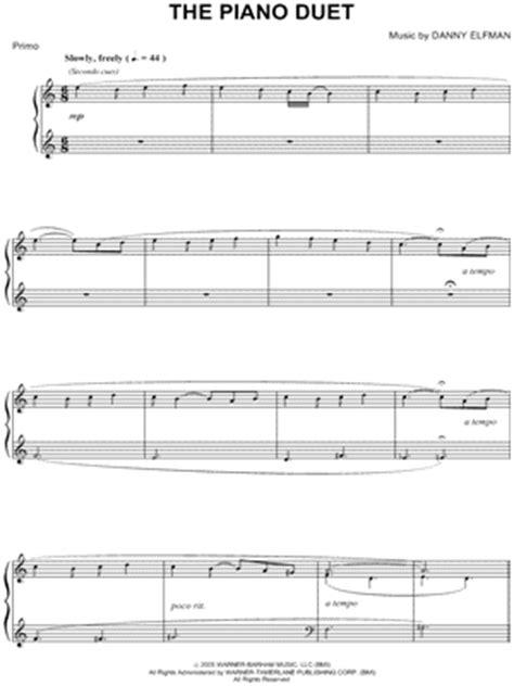 Corpse bride sheet music duet free