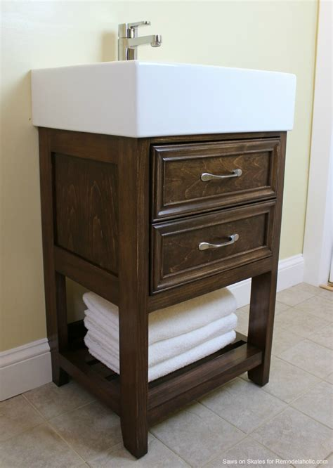Ikea Hack Bathroom Vanity Remodelaholic Ikea Hack How To Build A Small Diy Bathroom Vanity