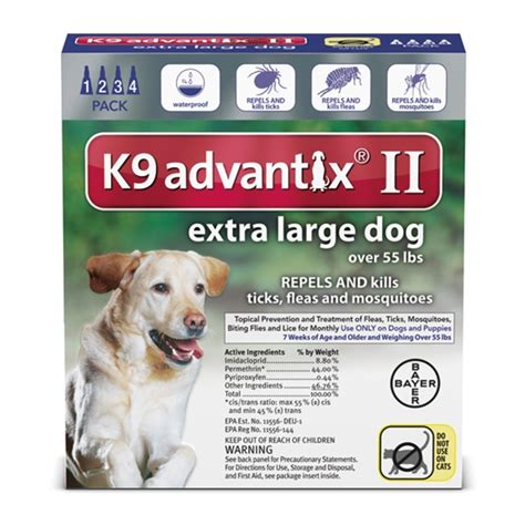 k9 advantix for dogs southernstates bayer k9 advantix ii flea treatment for large dogs 4 pack