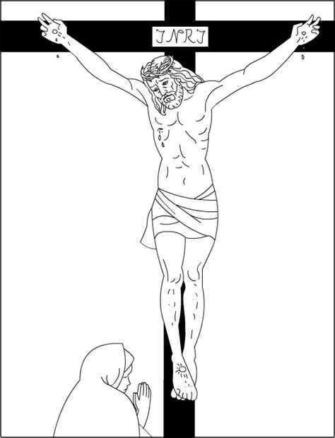 Good Friday Coloring Pages Jesus On The Cross Coloring Page