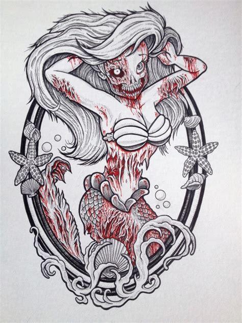 cartoon zombie tattoo flash zombie princesses