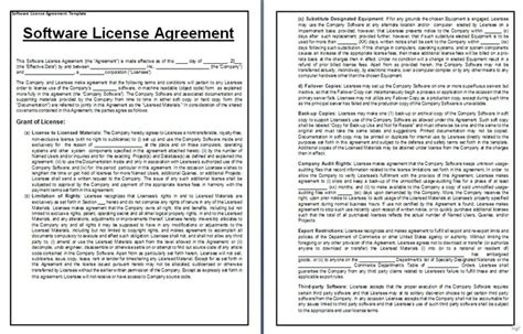 design expert license agreement software license agreement sle form office templates