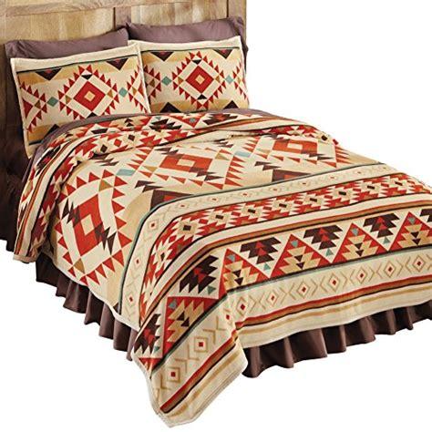 aztec home decor southwest aztec patterned fleece coverlet orange full