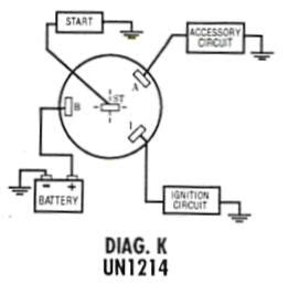 5 best images of 4 position ignition switch diagram