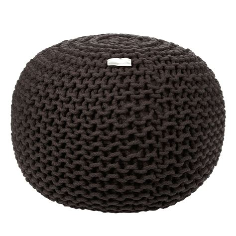 grey pattern pouf objects of design 357 knitted pouf mad about the house
