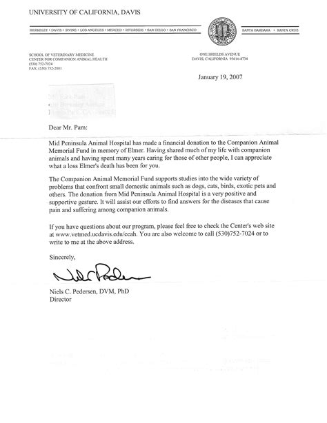 thank you letter for gift in honor of thank you letter for donation in honor of someone 28