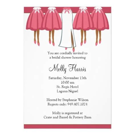 African American Bridal Shower Invitation   African