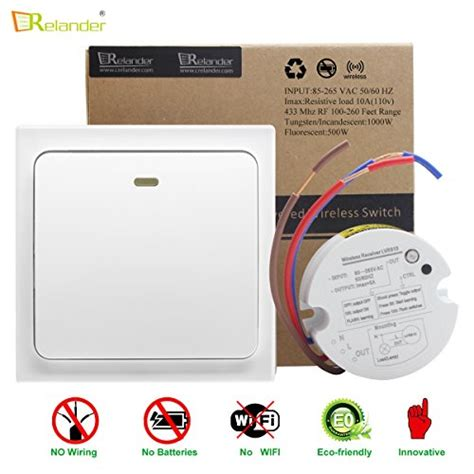colemeter wireless light switch kit crelander wireless light switch no wiring no battery