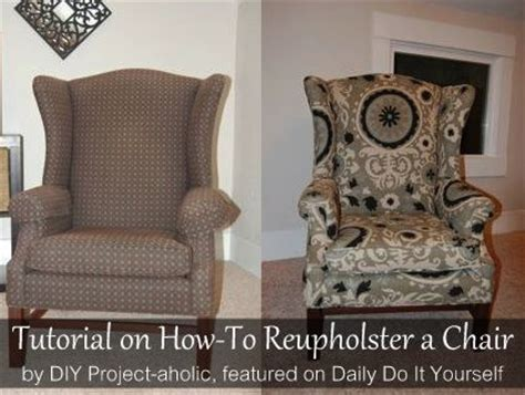 Reupholster Armchair Tutorial by How To Reupholster A Wingback Chair Armchairs Wings And