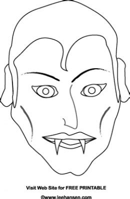 printable dracula mask vire mask coloring page coloring pages