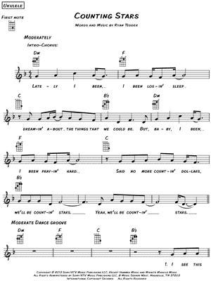 printable lyrics counting stars onerepublic quot counting stars quot sheet music download print