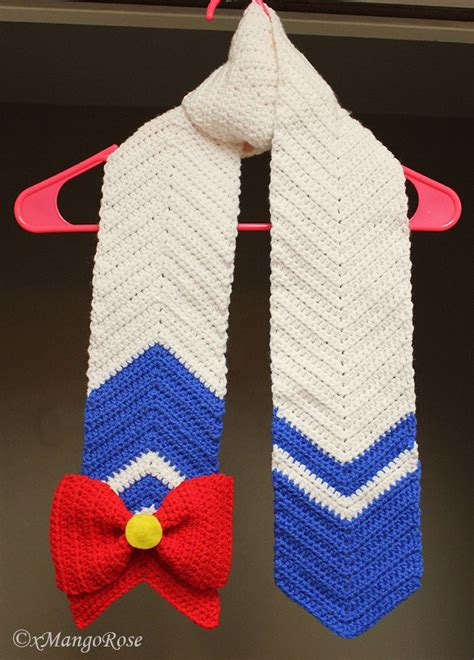 sailor moon knitting patterns sailor moon scarf inspired by the anime crochet pattern