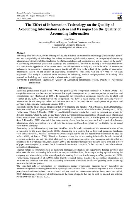 research paper on information systems research papers on accounting information system software
