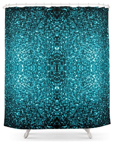 Blue Glitter Curtains Society6 Beautiful Aqua Blue Glitter Sparkles Shower Curtain Shower Curtains By Society6