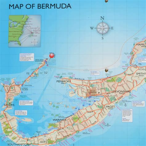 printable road map of bermuda popular 187 list bermuda tourist map