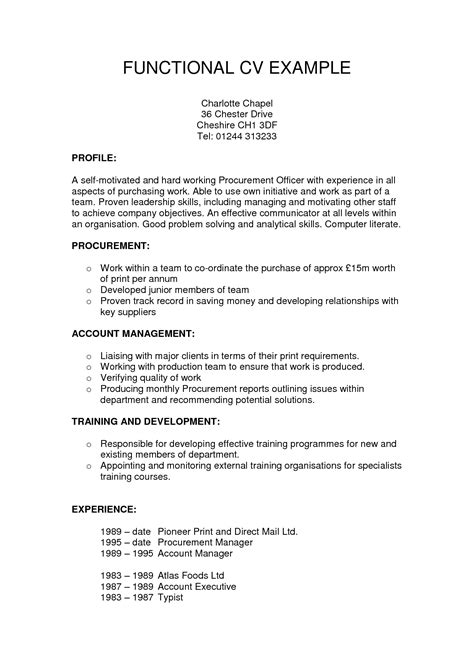 functional resume builder exle of functional resume resume ideas