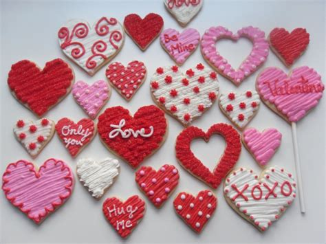 valentines day cookies sweet paisley cookies valentines collection