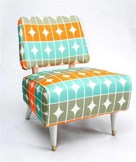 funky living room chairs i love the colors on this fun and funky slipper chair