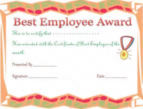 best employee certificate template best employee award certificate