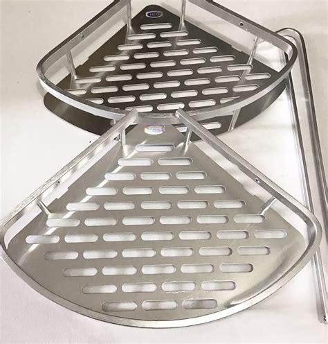 Rak Sudut Kamar Mandi Aluminium jual rak sudut 2 susun aluminium rak sudut rak kamar