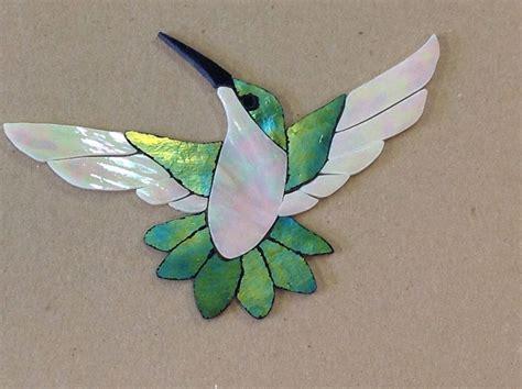 mosaic hummingbird pattern precut stained glass art kit female hummingbird mosaic