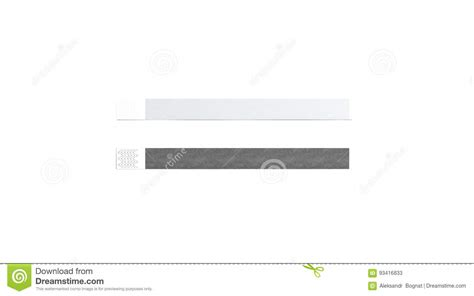 Blank Black And White Paper Wristband Mock Up Stock Illustration Image 93416833 Event Wristband Template