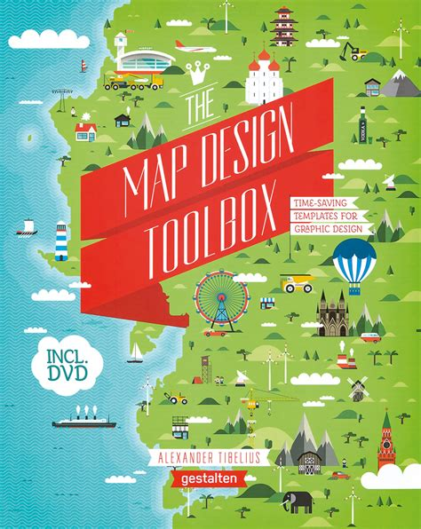 Karten Design Vorlagen the map design toolbox visuelle und digitale vorlagen f 252 r illustrative karten mit dvd