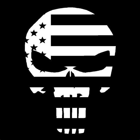 Window Decals Usa by Punisher Skull Usa Flag Vinyl Decal Car Truck Die Cut