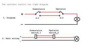 Two_Switch_One_Light two switches one light diagram on electrical outlet wiring