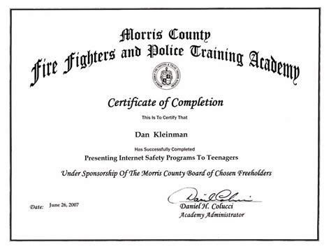 certificate of successful completion template certificate of successful completion template images