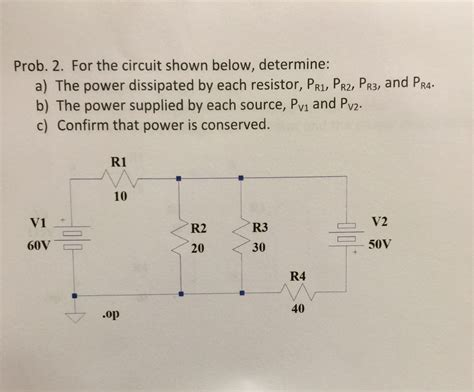 what value of power is dissipated by a 5 ko resistor when 30ma flows through it electrical engineering archive march 24 2015 chegg