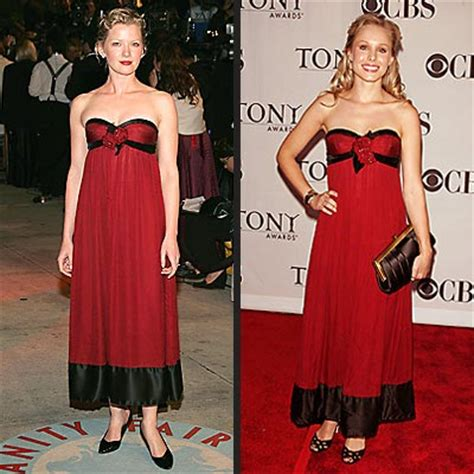 Gretchen Mol And Kristen Bell by Wearing The Same January 2005 June